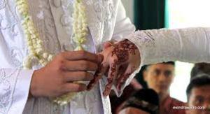 Fashion Hiasan tangan pengantin.