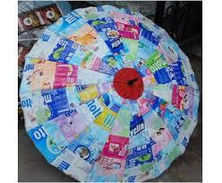 payung dari plastik bekas