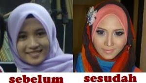 wajah sebelum dan sesudah make up