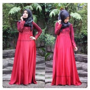 busana muslimah perpaduan dress dan batik